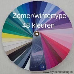 Informatie, kleuren, kleding, make-up, haarkleuren voor het zomer/wintertype | Style Consulting