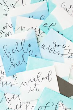 DIY Dip Dyed Notecards & Paper Goods