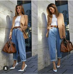 Cute Casual Outfits, Stylish Outfits, Fall Outfits, Look Fashion, Fashion Outfits, Womens Fashion, Pijamas Women, Look Office, Mode Jeans