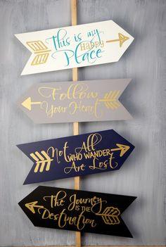 Arrow Signs (Set of 4)