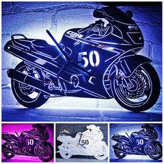 Edelstahl Wanduhr nach Fotovorlage.  #cklock #uhren #motorrad #biker #harleydavidson