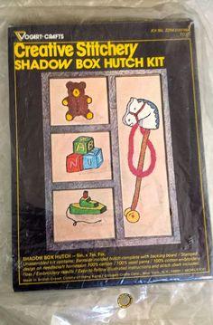 Vogart Crafts CREATIVE Stitchery NEEDLECRAFT KIT SHADOW BOX HUTCH 5 X 7 Toys NIP #Vogartcrafts