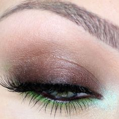 Brown and green..perfect for green eyes