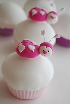 Love bug cupcakes - bjl