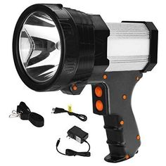 Super Bright Flashlight, Camping Lanterns, Clean Microfiber, Power Led, Bright Lights, Led Flashlight, Mosaic Glass, Red And Blue, Hold On