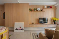 Os moradores deste apartamento, de 66 metros quadrados, buscavam conforto e funcionalidade