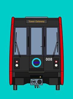 'London Docklands (DLR) Train' Photographic Print by Charlie Care Docklands Light Railway, Train Drawing, London Docklands, London Underground, East London, Model Trains, Collage Art, Artists, Unique