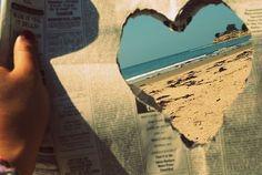 DIY heart cut-out - Beach photos