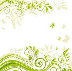vectores florales verdes - Buscar con Google