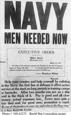 NAVY RECRUITING POSTERS, WWI