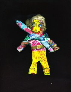 a little bit of that    paper mache doll