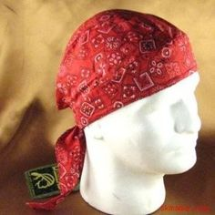This is a guide about du rag pattern. These fun cloth head covers or skull caps are worn by men and women, and often tied from handkerchiefs. Scrub Hat Patterns, Hat Patterns To Sew, Sewing Patterns Free, Free Sewing, Sewing Ideas, Sewing Projects, Welding Cap Pattern, Welding Hats, Welding Gear