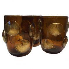B.I AMBER MURANO GLASSWARE by Birgit Israel   ACCESSORIES in the BI Collection
