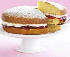Bake a classic Victoria sponge cake with this easy recipe, perfect for everyday baking and occasions. Find more cake recipes at BBC Good Food. Great British Bake Off, British Bake Off Recipes, British Desserts, Sandwich Cake, Sandwich Recipes, Cake Recipes, Sandwiches, Sandwich Cookies, Food Cakes