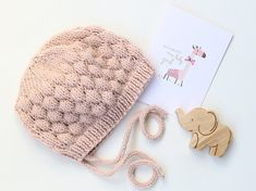 PDF Baby Hat Knitting Pattern Baby Bonnet Pattern от LoveFibres