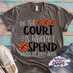 Free Basketball SVG Cutting Files for Silhouette and Cricut - My Designs In the Chaos Basketball Shirt Designs, Free Basketball, Basketball Mom Shirts, Basketball Design, Love And Basketball, Basketball Stuff, Ncaa Softball, Basketball Motivation, Softball Gifts