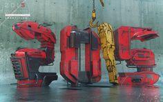 2015 Dieselpunk 3d typography by Grafix-Art on DeviantArt