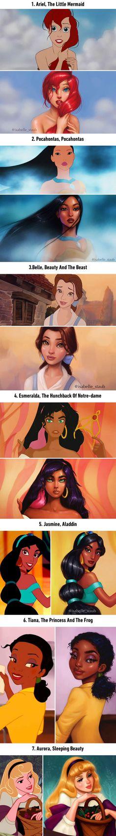 Illustrator Repaints Disney Princesses In Gorgeous New Digital Series