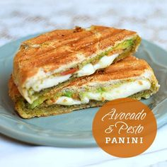 yum yum, gimme some! Avocado and Pesto Panini