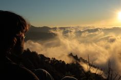 Sunset above the clouds, San Jose del Pacifico, Oaxca, Mexico