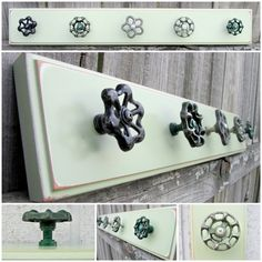 Ready to Ship / 25 Coat Rack with Green Valve by TheDoorStop, $58.00