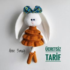 Amigurumi related to each other, we continue to share with each other. In this article amigurumi bunny free crochet pattern is waiting for you. Crochet Bunny Pattern, Crochet Dolls Free Patterns, Doll Patterns, Free Crochet, Amigurumi Patterns, Giraffe Crochet, Crochet Mermaid, Häkelanleitung Baby, Amigurumi Doll