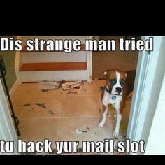Good thing you stopped the strange man before he REALLY did some damage!  .Boxers