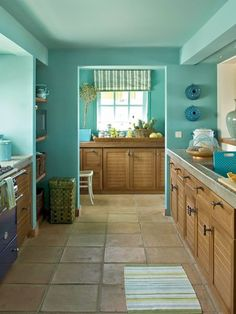 Discover the best kitchen colors by popularity based on statistical analysis. plus get access to our kitchen color photo gallery. Epic kitchen colors page. House Of Turquoise, Turquoise Room, Turquoise Cottage, Paredes Aqua, Kitchen Paint Colors, Teal Kitchen Walls, Aqua Kitchen, Room Kitchen, Kitchen Shades