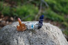 wire wrapped forest faery rings