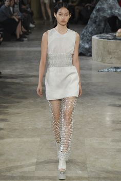 Iris van Herpen Spring 2016 Ready-to-Wear Fashion Show // Take the weird bubble encasements off the legs and I like it.