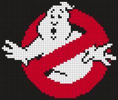 Ghostbusters Logo (Square) Perler Bead Pattern / Bead Sprite