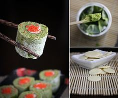 matcha CAKE sushi rolls. cute and delish!  by Heather (sprinklebakes blog) http://www.sprinklebakes.com/p/about.html