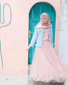 Rok tutu by 💞 Islamic Fashion, Muslim Fashion, Modest Fashion, Skirt Fashion, Fashion Outfits, Hijab Style Tutorial, Hijab Fashionista, Street Hijab Fashion, Casual Hijab Outfit