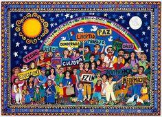 'EZLN', Beatriz Aurora / EZLN, pintura, arte zapatista Arte Latina, Political Art, Feminist Art, Biomes, Power Girl, Aurora, Painting & Drawing, Sculpture Art, Art Boards