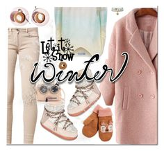 """""""let it snow"""" by katymill ❤ liked on Polyvore featuring INUIKII, Wildfox, Furla, J.Crew and Martha Stewart"""