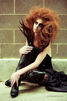 Alternative Fashion - big hair - cinder block studio