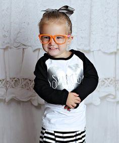 Another great find on #zulily! Black & White 'Sparkle & Sass' Tee - Infant, Toddler & Girls #zulilyfinds