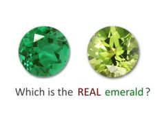 Recognizing a fake emerald