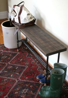 17 Apart: Over on eHow: DIY Industrial Entry Bench