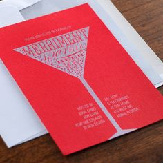 Merriment Holiday Card by Checkerboard Ltd.