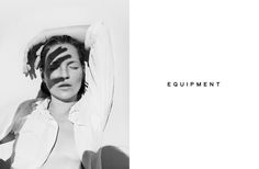 Equipment - Kate Moss photographed by Daria Werbowy for EQUIPMENT Spring 2016 #equipmentfr