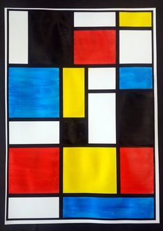 To play with the three primary colors, the essential artist to exploit is certainly Piet Mondrian. This artist, born in the Pays … Piet Mondrian, Colchas Quilting, Quilting Designs, Op Art, Famous Artists For Kids, Three Primary Colors, School Murals, Wayne Thiebaud, Wall Drawing