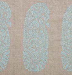 Jaipur Paisley Aqua - Lula Fabrics - New Tribal Collection