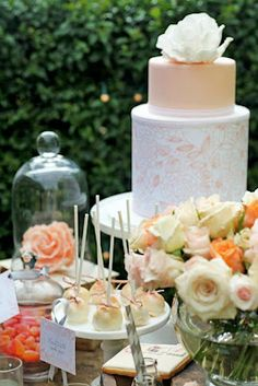 Beautiful Cake and Table by Red Wagon Events