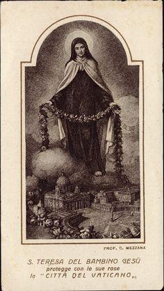 Santa Teresa de Lisieux protege o Vaticano com uma chuva de rosas.