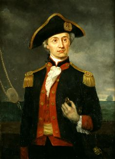 John Paul Jones was a Scottish naval captain for the Continental army. He was one of the first well known navy fighters for the Continental army. He became very well known for his fighting against in the british. American Revolutionary War, American War, Early American, American History, American Soldiers, Larp, Famous Freemasons, Navy Uniforms, John Paul Jones
