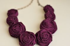 rosette necklace...love this color.  would love to make one out of silk