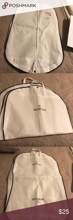 Moncler garment bag & hanger Just used to bring coat home from the store Moncler Accessories