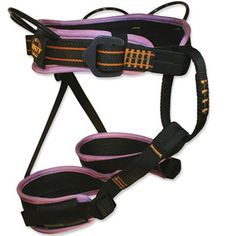 Misty Mountain Finesse Harness (for rock climbing) | The Finesse climbing harness is designed specifically for female climbers. | at www.weighmyrack.com