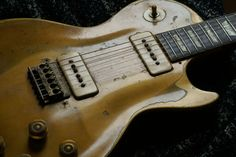 Early 1950s Gibson Les Paul Goldtop butchered with a Japanese Washburn Bridge